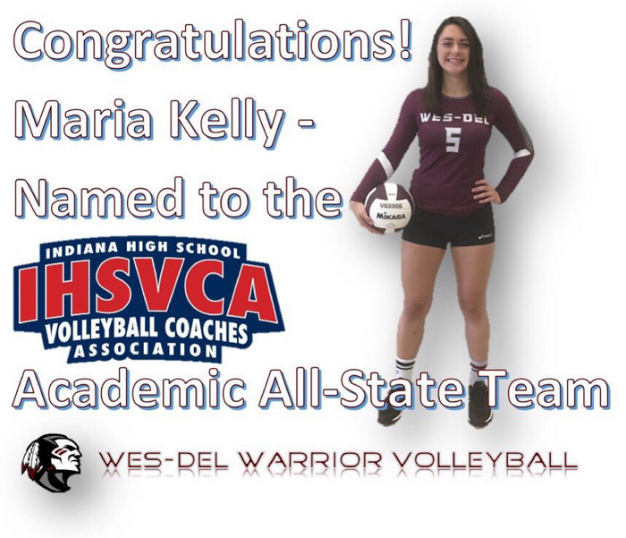 Maria Kelly named Academic All-State!
