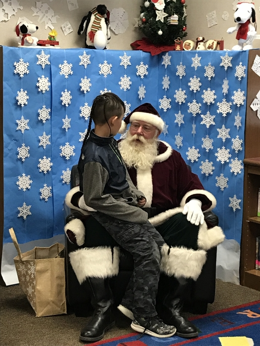 Santa came to Wes-Del Elementary today!