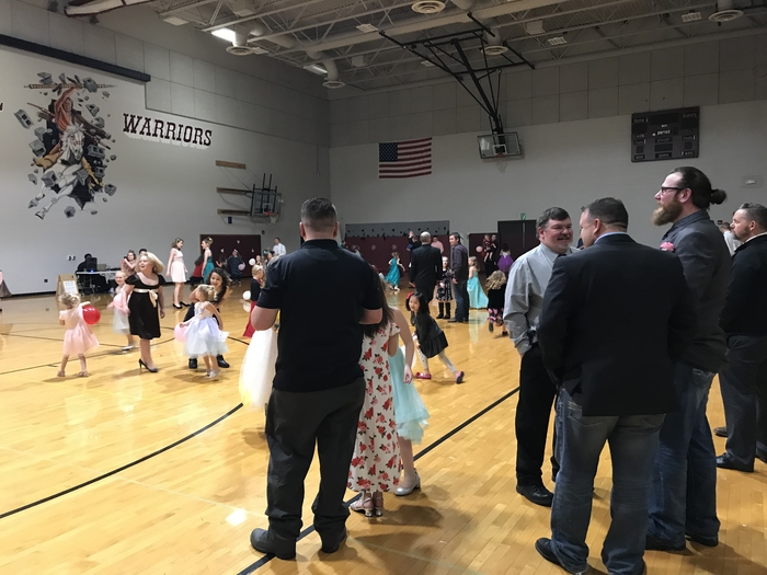 Dads and daughters at Wes-Del Elementary!